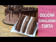 Čokoladna torta koja se topi u ustima. Sočan biskvit, fina čokoladna krema u kombinaciji sa marmeladom i šlagom, svi je vole. Postupak izrade u slikama.
