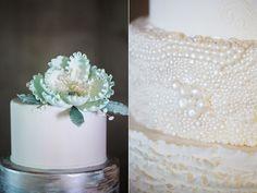 wedding cake - photo by Casto Photography http://ruffledblog.com/high-tide-inspired-wedding-in-greenville