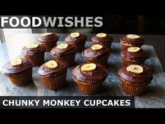 Food Wishes Video Recipes: Chunky Monkey Cupcakes – My Favorite Frosted Muffin Dark Chocolate Frosting, Mini Chocolate Chips, Best Chocolate, Chocolate Cupcakes, Chocolate Recipes, Monkey Cupcakes, Chunky Monkey, Food Wishes, Cupcake Recipes