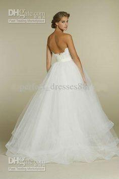 Wholesale Wedding Dresses - Buy NEW Sweetheart Two Piece Design Lace Short/Mini Bridal Gowns Detachable Train Tulle Wedding Dresses, $135.0 | DHgate