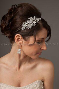 Rhinestone Bridal Headband, Wedding Headband - Candice. $89.95, via Etsy.