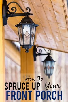 5 Tips to Spruce Up a Front Porch -Turn your run down porch into a beautiful, welcoming entry way with loads of curb appeal with these 5 easy and cheap Tips to Spruce Up a Front Porch! Easy DIY ideas for the porch