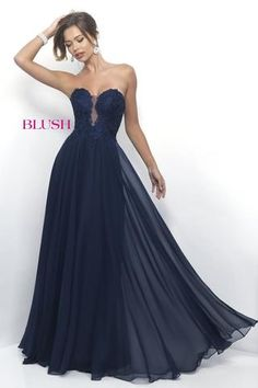 Shop strapless long prom gowns at Simply Dresses. Floor-length designer Blush dresses with lace sweetheart bodices and a-line chiffon skirts. Blush Prom Dress, Strapless Prom Dresses, Sweetheart Prom Dress, Prom Dresses 2017, Long Prom Gowns, Blush Dresses, Formal Dresses, Dress Prom, Chiffon Dresses
