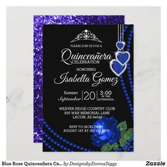 Zazzle Invitations, Birthday Invitations, Custom Postage Stamps, Exactly Like You, Party Fun, Party Guests, Blue Glitter, Anniversary Parties, Grand Opening