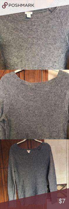 J crew waffle knit sweater Wool waffle knit sweater. Cute and versatile J. Crew Sweaters Crew & Scoop Necks