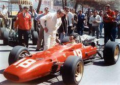 Lorenzo Bandini su Ferrari 312-67 GP Monaco 1967