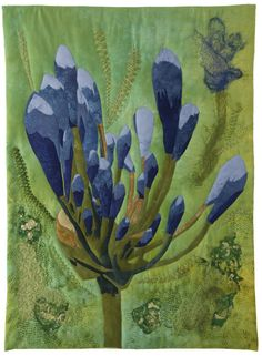 Agapanthus art quilt by Rita Dijkstra-Hesselink (The Netherlands)