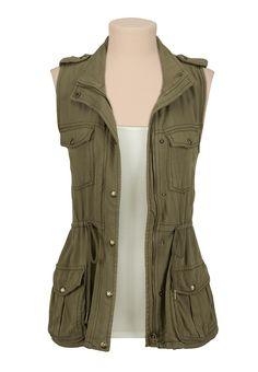 Cinched waist 4 pocket vest - maurices.com