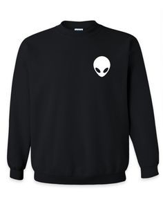 Alien Sweatshirt - Alien Hoodie - Alien Crop Top - Alien T Shirt - Tumblr Sweatshirt - Tumblr T Shirt - X Files T Shirt - Hipster Sweatshirt by SterlingPrintShop on Etsy
