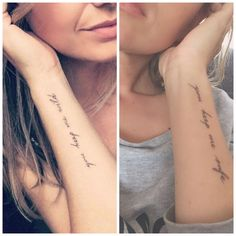 Matchting tattoo with my sister. You keep me safe. You keep me wild. <3