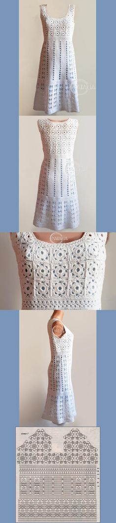 Vestido em Crochê Fuxico