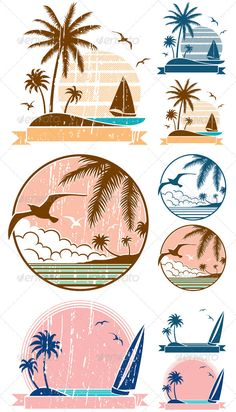 16 Ideas For Travel Logo Design Inspiration Illustrations Travel Agency Logo, Travel Logo, Free Vector Graphics, Vector Art, Vector Illustrations, Vector Stock, Logo Voyage, Adobe Illustrator, Beach Logo