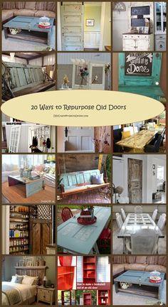 20 Ways to Re-purpose Old Doors