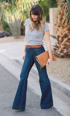 Look T-shirt & Jeans: Com Flare