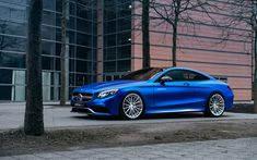 Download wallpapers 4k, Mercedes-AMG S63 Coupe, Fostla, tuning, 2017 cars, blue S63, supercars, Mercedes