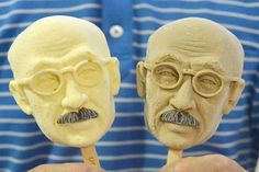 """An ice-cream in the shape of the face of Tojo Hideki, a former Japanese PM who was executed as a war criminal after WWII goes on sale in China: Chinese ice-cream store chain """"Iceason"""" has released a controversial new ice-cream. That's right, for the hefty price of 30 yuan [560 yen; $5], you can lick a Japanese war criminals face until it melts. The chain's Tojo Hideki ice-cream comes in five different flavors, and is on sale to commemorate the 70th anniversary of Japan's defeat in China."""