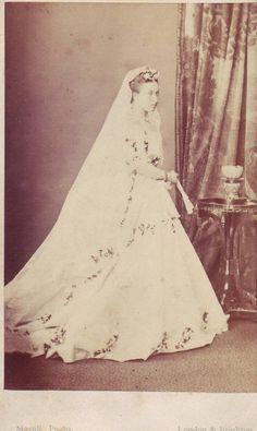 Princess Helena in her wedding dress