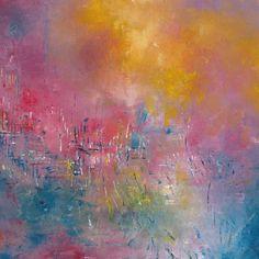 Oeuvre Abstraite - La nature en fête - Emmanuelle Levesque - Huile