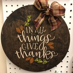 Delivered a bunch of new items to Twisted Art and More today! This is just a sam Thanksgiving Crafts, Thanksgiving Decorations, Fall Crafts, Holiday Crafts, Crafts To Make, Holiday Ideas, Fall Wood Signs, Diy Wood Signs, Wood Block Crafts