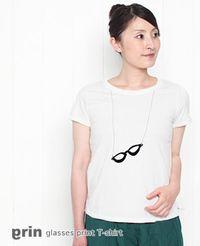 grin グリン メガネプリント Tシャツ