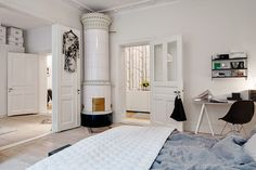 my scandinavian home: Duvet day in this beautiful Swedish bedroom?!