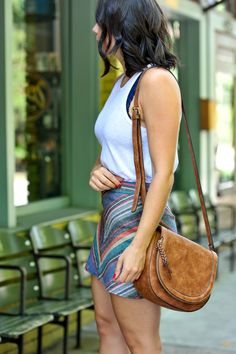 Free People Striped Mini Skirt and Tank Top - summer date night outfit ideas - My Style Vita @mystylevita - 20