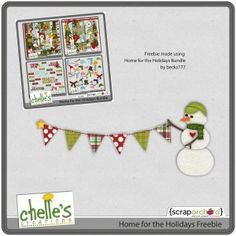 Home for the Holidays freebie from Chelle's Creations #digiscrap #scrapbooking #digifree #scrap #freebie #scrapbook