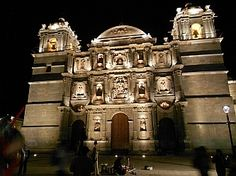 Santo Domingo Cathedral in Oaxaca. More: http://roadslesstraveled.us/oaxaca-1 The Oaxaca Zocalo is the liveliest city square we've seen anywhere in Mexico.