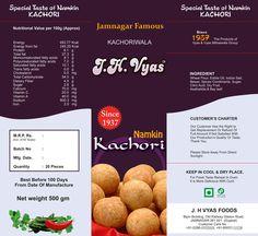 Food Packaging Design For Indian Kachori