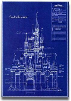 A blueprint of Cinderella's Castle.