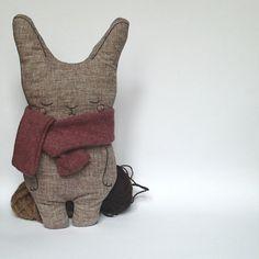 The Bunny Pillow! Home decor, pillow, linen pillow, handmade bunny, linen bunny, bunny, rabbit, stuffed bunny, soft toy, plush toy.