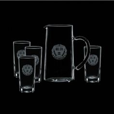 Promotional Products Ideas That Work: Aristocrat Pitcher & 4 Hiballs. Get yours at www.luscangroup.com