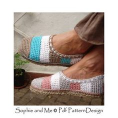 Stripes and Hearts basic Slippers with handmade tailored Cord-Soles attached for street-wear! Follow link for more info!