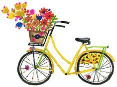 Carolyn Gavin's whimsical bicycle painting