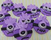 Minion fondant toppers - edible minion toppers - Great for baby showers, first birthday or any age birthday cupcakes