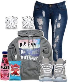 """""""Untitled #204"""" by tootrill on Polyvore i guess i need fuze and potato chips to be stylish ;) cute everything!!"""
