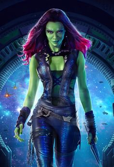 """Gamora was raised from childhood by Thanos and Ronan to be a galaxy-class killer. She was forced to maintain an intense rivalry with her """"sibling"""" Nebula in order to survive and proved to be the dominant combatant of the two at every turn, although she also acted as a friend and mentor to Nebula. As an adult, and still serving Thanos, Gamora and Nebula were tasked with finding the Orb of Morag. Nebula went ahead to Praxius IX to search the Cloud Tombs, while Gamora arrived later as ..."""