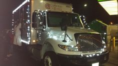 A Clothesline truck participating in a Christmas parade!