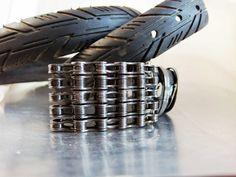 Recycled Bike Chain Belt Buckle Clear Finish by RhythmicMetal, $35.00