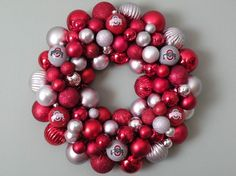 buckeye ornament wreath - love this!