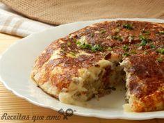Torta de batata com carne na frigideira