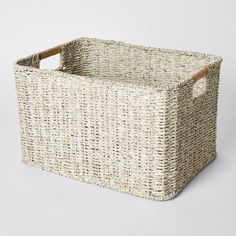 White Wash Seagrass Rectangle Basket with Lid – Target Australia Storage Baskets, Clutter, Target, Australia, Closet, Armoire, Closets, Cupboard, Wardrobes