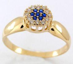 anel de ouro com safira azul - Pesquisa Google