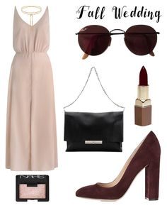 """""""Untitled #214"""" by lacywoods ❤ liked on Polyvore featuring Zimmermann, Gianvito Rossi, Ray-Ban, CÉLINE, NARS Cosmetics, Fashion Fair and fallwedding"""