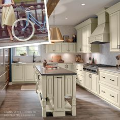 """I will always choose natural oatmeal-colored cashmere over those neon synthetics. I prefer a country road to a monitor's simulated peak."""" Featuring our 660 Door Style in Painted Cashmere. Color Stories, Painting Cabinets, Cabinet Doors, Living Spaces, Kitchen Cabinets, Table, Furniture, Monitor, Oatmeal"""