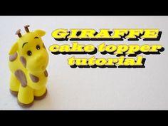 GIRAFFE CAKE TOPPER FONDANT FOR FARM CAKE - GIRAFFA IN PASTA DI ZUCCHERO TORTA FATTORIA - YouTube