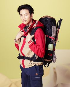 Won Bin is ready for the fresh, spring colors of the outdoors, equipped with Center Pole's spring and summer collection in the brand's 2014 ads. Autumn Tale, Autumn In My Heart, Won Bin, Tough Guy, Kimchi, Korean Actors, Summer Collection, The Man, Campaign