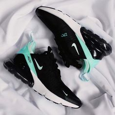 Nike Air Max 270 black and turquoise . - Nike Air Max 270 black and turquoise – shoes – # tu - Cute Nike Shoes, Cute Sneakers, Nike Air Shoes, Sneakers Nike, Nike Trainers, Black Nike Shoes, Cheap Shoes, Air Max Sneakers, Hype Shoes