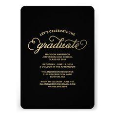 Simple & Classy | Graduation Party Invitation