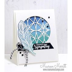Zen Feather Stamp Set by Catherine Pooler Designs – Catherine Pooler, LLC Card Making Tutorials, Card Making Techniques, Making Cards, Handmade Greetings, Greeting Cards Handmade, Doodle Images, Feather Cards, Pop Up Greeting Cards, Cute Cards